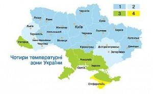 Температурні зони України